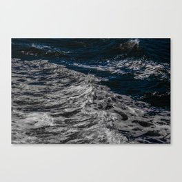 Snow Day - Sea foam on water in San Francisco Canvas Print