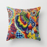 globe Throw Pillows featuring Globe by Leah Moloney