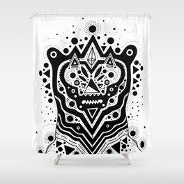 Space Bear Shower Curtain