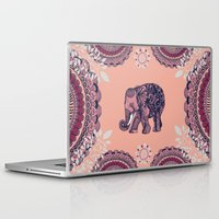 bohemian Laptop & iPad Skins featuring Bohemian Elephant  by rskinner1122