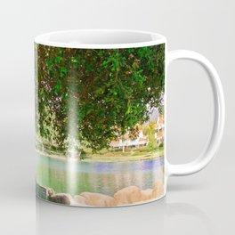 tree by the lake || color Coffee Mug