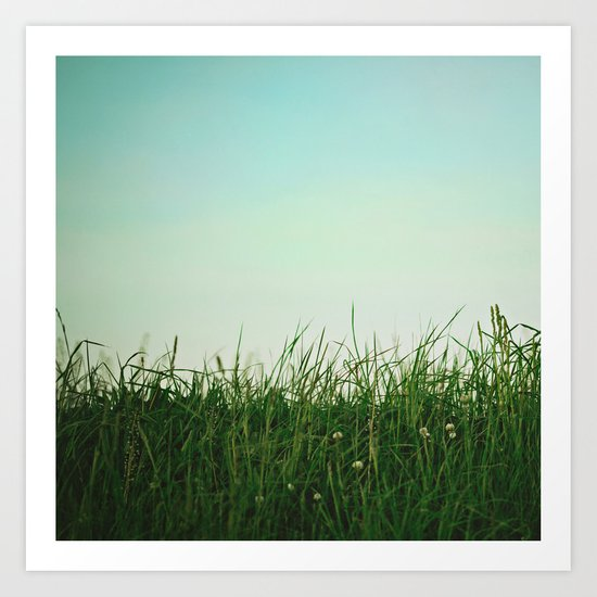 The Grass Is Greener Here  Art Print
