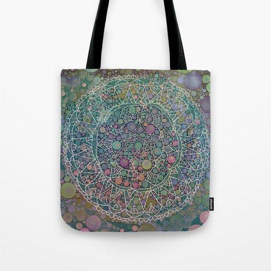 Moody Hipster Mandala Tote Bag