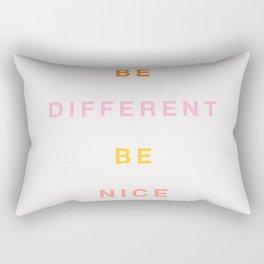 Be Nice! Rectangular Pillow