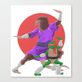 the Art of Ninjutsu....Teenage Mutant Ninja Turtles Canvas Print