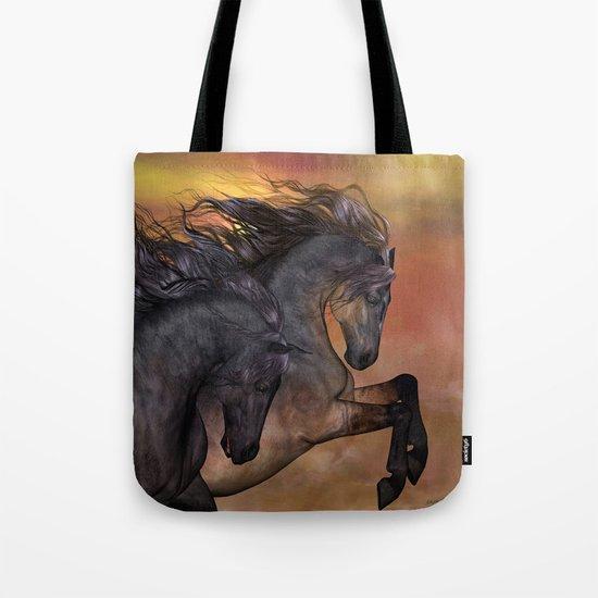 HORSES - On sugar mountain Tote Bag