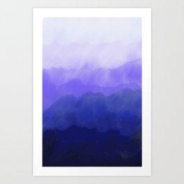 Blue Ombré Wash Art Print