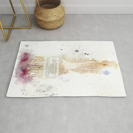 Painting - Brush splash watercolor Rug