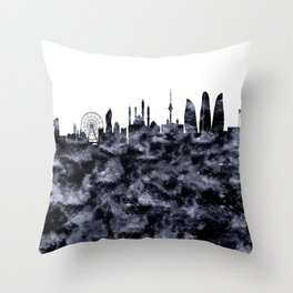 Baku Skyline Azerbaijan Throw Pillow