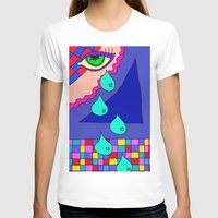 blankets T-shirts featuring Abstract 34 by Linda Tomei