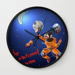 Mono cosmico Wall Clock