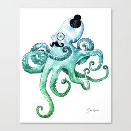 Dapper Octopus Canvas Print