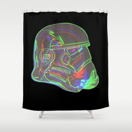 Neon Trooper Shower Curtain