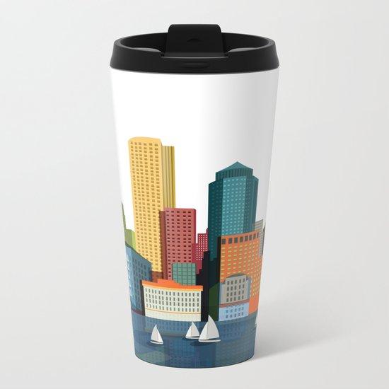 City Boston Metal Travel Mug