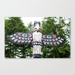 Alaskan Totem - Eagle Canvas Print