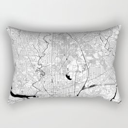 Washington Black and White Map Rectangular Pillow