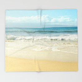 The Voices of the Sea Throw Blanket