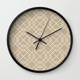 Lattice in Tan Wall Clock