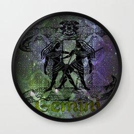 Gemini Astrology Wall Clock