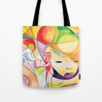 divergent Tote Bags featuring Divergent Threads, Lucent Memories by Serapenta Studio – HBGC
