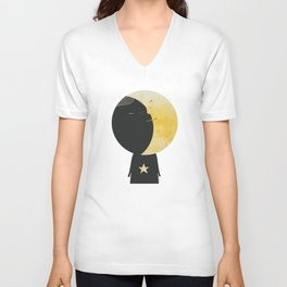 The day I kissed the Moon Unisex V-Neck