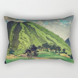 Crossing people's land in Iksey Rectangular Pillow