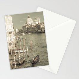 VENICE Canal Grande & Santa Maria della Salute   urban vintage style Stationery Cards
