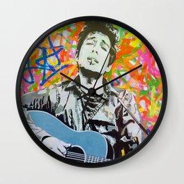 Rare Bob Dylan Lithograph Pop Art Concert Gig Poster Wall Clock