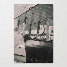 Vintage Biplane Pilots seat Canvas Print