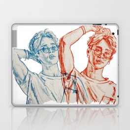 Jimin red and blue Laptop & iPad Skin