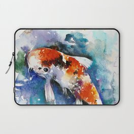 Koi Fish in the Pond - Zen Watercolor Laptop Sleeve