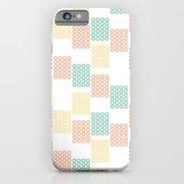 Pastel geometric abstract pattern with rectangles iPhone Case