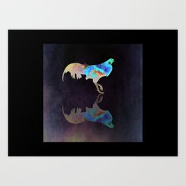 Chicken Reflect Art Print