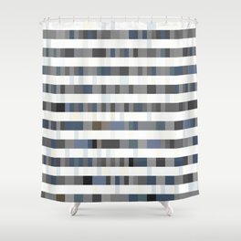 Bach Invention (Shades of Grey) Shower Curtain