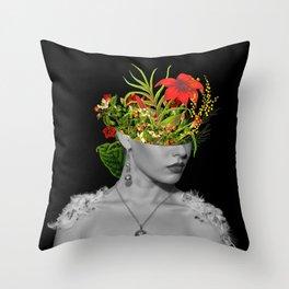 Flower Head Throw Pillow