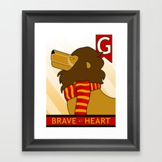 Gryffindor Lion Framed Art Print