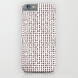 Dots (Shadowed) - Black x Coral iPhone Case