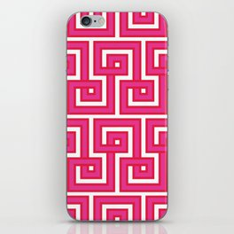 Greek Key - Pink iPhone Skin