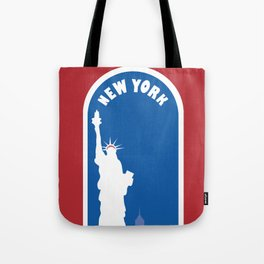 New York City, New York - Skyline Illustration by Loose Petals Tote Bag