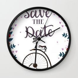 Save the Date Penny Farthing Wall Clock