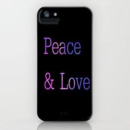 Peace & Love iPhone Case