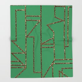 Ladders B (green) Throw Blanket