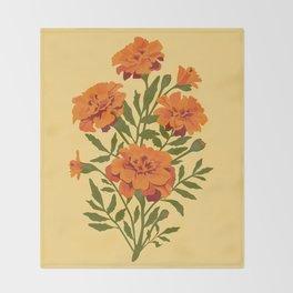 Marigold Flowers Throw Blanket