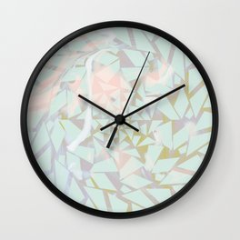 Opal Shattered Glass Wall Clock