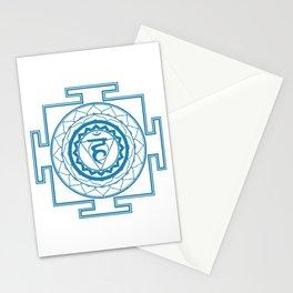 Sri Yantra Throat Chakra Stationery Cards
