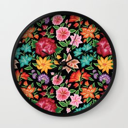 Floral Pattern from Oaxaca Wall Clock