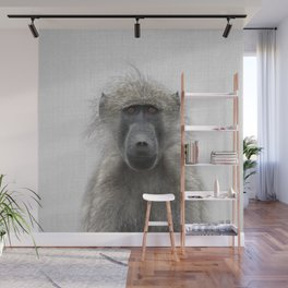 Baboon - Colorful Wall Mural