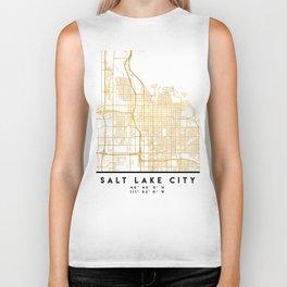 SALT LAKE CITY UTAH CITY STREET MAP ART Biker Tank