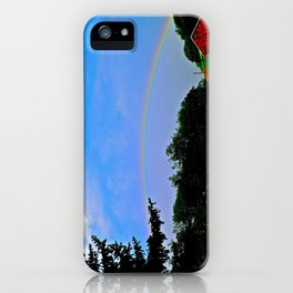 Some Farm Under the Rainbow iPhone Case