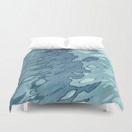 Aqua Shoreline Duvet Cover